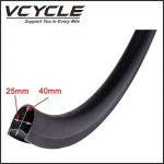 VCYCLE HALO 40mm Fibre de Carbone Course Route Vélo Wheelset 700C en Vélo Roues Clincher Largeur 25mm U Forme Shimano ou Sram 8/9/10/11 Speed. de la marque image 4 produit