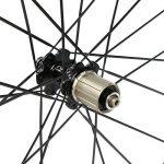VCYCLE Nopea 700C 38mm Fibre de Carbone Paire de Roues Route Vélo de Course Clincher Largeur 23mm Shimano ou Sram 8/9/10/11 Vitesse de la marque image 4 produit