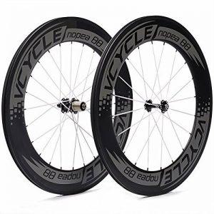 VCYCLE Nopea 700C 88mm Ensemble de Roues de Vélo de Route en Carbone Pneu pour Shimano ou Sram 8/9/10/11 Vitesses de la marque image 0 produit