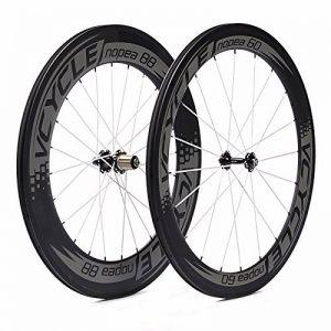 VCYCLE Nopea 700C Vélo de Route Carbone Roues en Roue de Vélo Pneu Avant Arrière de 60mm 88mm Shimano ou Sram 8/9/10/11 Vitesses de la marque image 0 produit