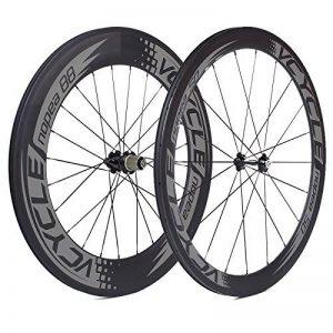 VCYCLE Nopea Carbone Racing Road Bike Roues 700C Tubulaire 50mm Avant Arrière 88mm Shimano ou Sram 8/9/10/11 Vitesse de la marque image 0 produit