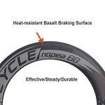 VCYCLE Nopea Carbone Racing Road Bike Roues 700C Tubulaire 50mm Avant Arrière 88mm Shimano ou Sram 8/9/10/11 Vitesse de la marque image 2 produit