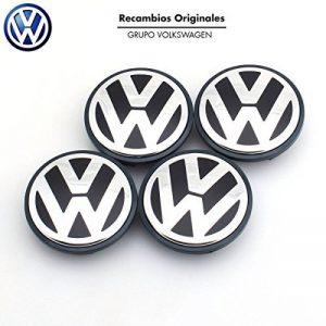 Volkswagen Lot de 4 cache-moyeux de rechange d'origine VW pour Golf 5, 6, Jetta, Beetle, Passat B6, etc. 56 mm-- de la marque image 0 produit