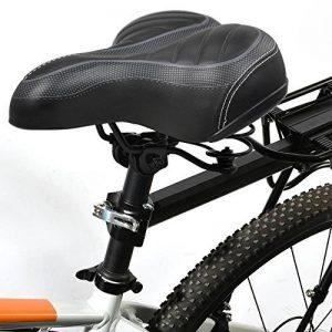 yahee Siège Selle vélo vélo Tour Selle vélo Seat Bike avec grand assise 250x 205x 65mm pour femme homme noir de la marque image 0 produit