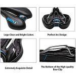 ZUOAO Selle de Vélo - Rembourrage en Mousse à Mémoire et Ressort Confortable, Selle de Siège Vélo/VTT Respirant Bike Seat Saddle (Noir et Bleu) de la marque image 3 produit