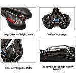ZUOAO Selle de Vélo - Rembourrage en Mousse à Mémoire et Ressort Confortable, Selle de Siège Vélo/VTT Respirant Bike Seat Saddle (Noir et Rouge) de la marque image 4 produit